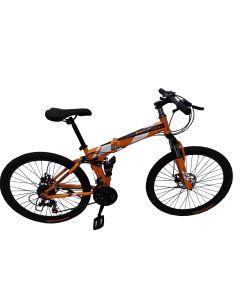 Ποδήλατο Mountainbike  Αναδιπλούμενο (Σπαστό)   26 Ιντσών 21 ταχύτητες Δισκόφρενα : μπρος / πίσω,  Ανάρτηση Μπρός / Πίσω. Με φαρδιά Ζάντα