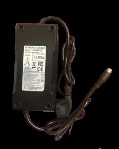 Φορτιστής  μπαταρίας Λιθίου 60V για Μηχανάκια Ηλεκτρικά  (71.4V 3A ), Κονέκτορας RCA